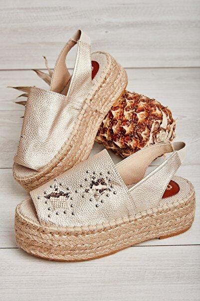 Bambi Altın Kadın Sandalet L0638100709