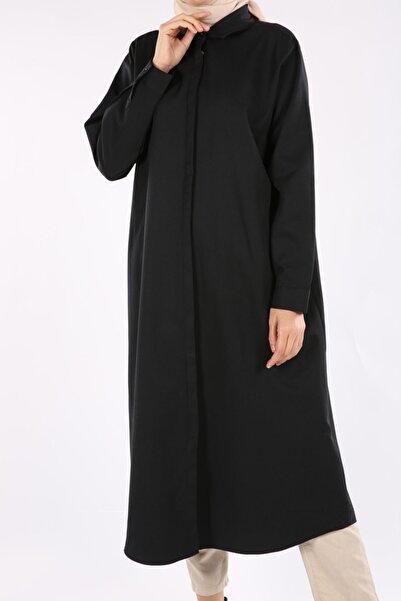 ALLDAY Kadın Siyah Büyük Beden Gömlek Tunik