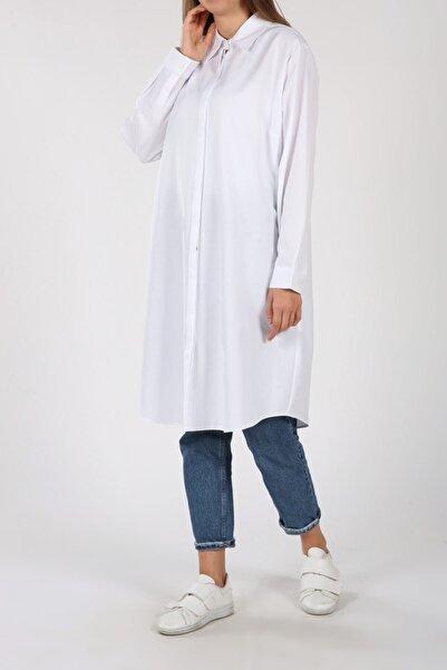 ALLDAY Kadın Beyaz Gömlek Tunik