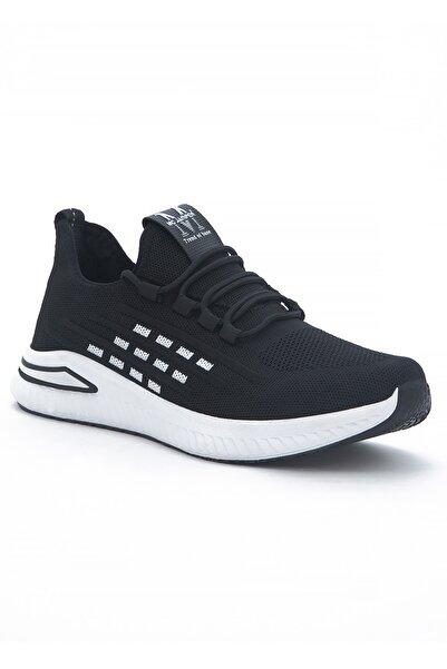 TOMSKİNG 1966 Siyah Beyaz Sneakers Yürüyüş Ayakkabısı