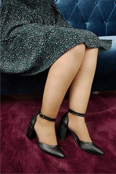 TREND Kadın Topuklu Ayakkabı Siyah Ox08