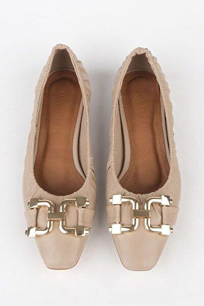 Marjin Okena Kadın Günlük Klasik Ayakkabıbej