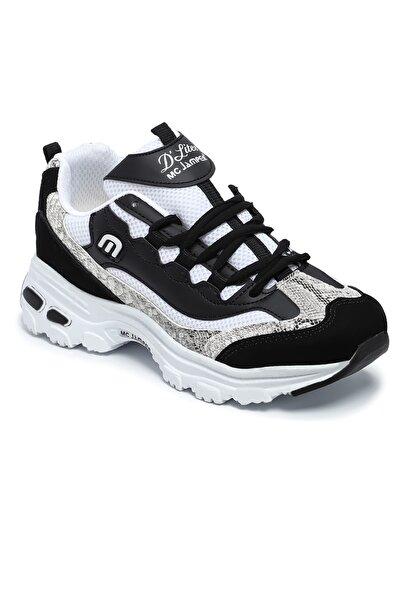 Marco Jamper Siyah Beyaz Sneaker Kadın Ayakkabı Wb1901