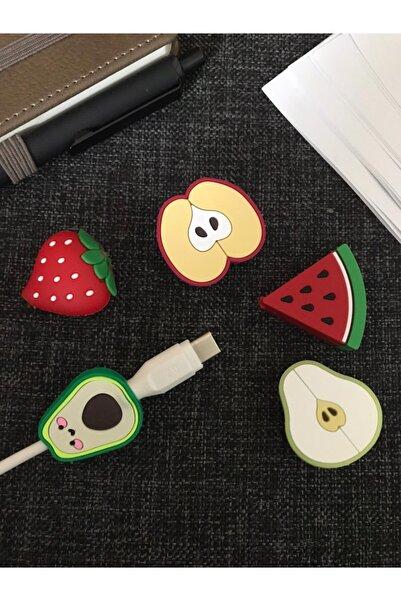 SUPPO Sevimli Silikon Kablo Koruyucu 5'li Meyve Set