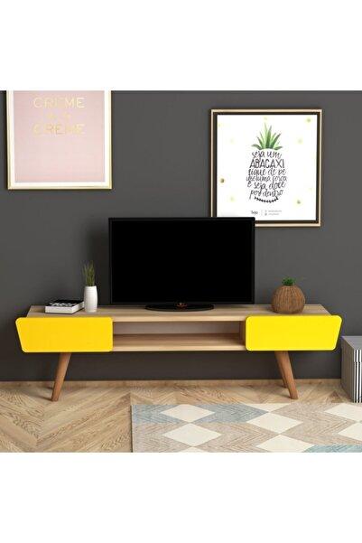 Monte Sehpa Meşe Sarı Butterfly Tv Sehpası