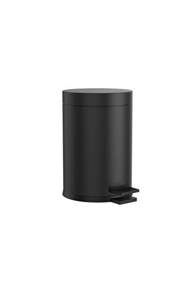 BBA HOME Çelik Metal 3 Litre Pedallı Çöp Kovası Siyah Kargo Bedava Çöp Kutusu