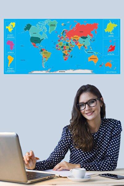 Tutunabilir Kağıt Dünya Haritası Akıllı Kağıt Tahta Yazı Tahtası Özel Baskılı Renkli Dekoratif