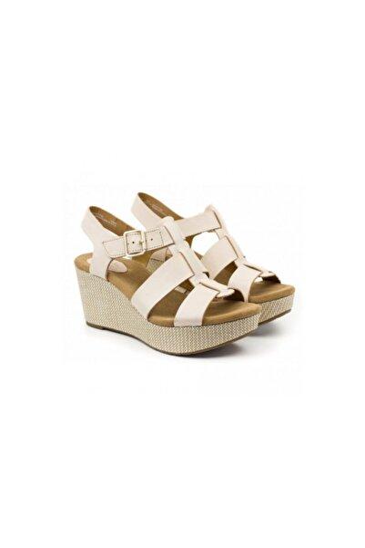 CLARKS Kadın Beyaz Dolgu Topuklu Ayakkabı