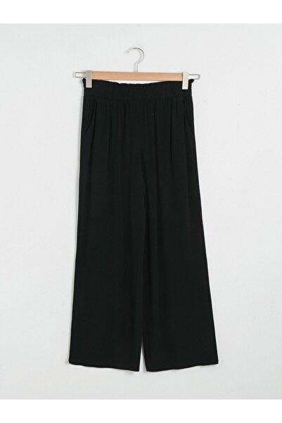 LC Waikiki Kadın Siyah Geniş Paça Pantolon
