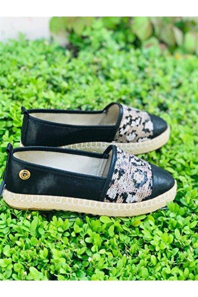 Pierre Cardin Kadın Siyah Pullu Ayakkabı 50200