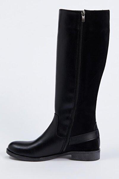 DeFacto Suni Deri Uzun Çizme