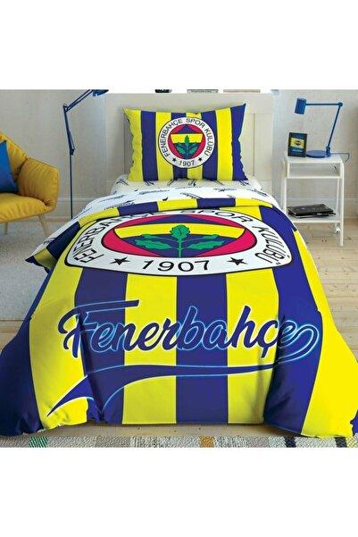 Taç Lisanslı Fenerbahçe Çubuklu Tek Kişilik Nevresim Takımı