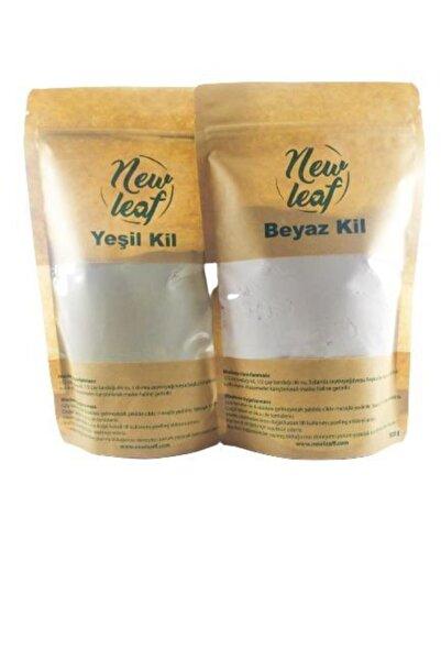 Newleaf Yeşil Kil Ve Beyaz Kil Doğal Yüz Maskesi (500 G X2 Adet)