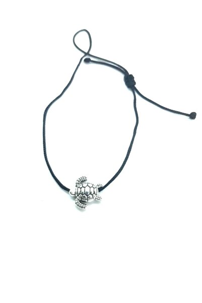 Accessories Kaplumbağa Figürlü Siyah Ipli Bileklik