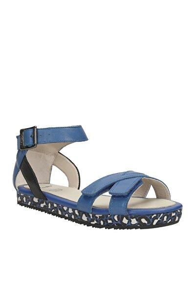 CLARKS Hakiki Deri Mavi Çocuk Sandalet 261056626