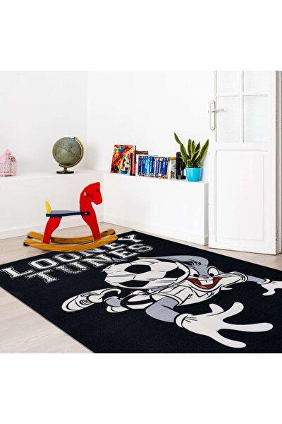 Dolce Vita Halı Nino 208 Bugs Bunny Siyah, Çocuk Halısı - Antialerjik - Kaymaz Taban, 133x190