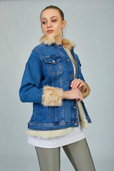VorNişantaşı Tasarım Denim Kürklü Ceket