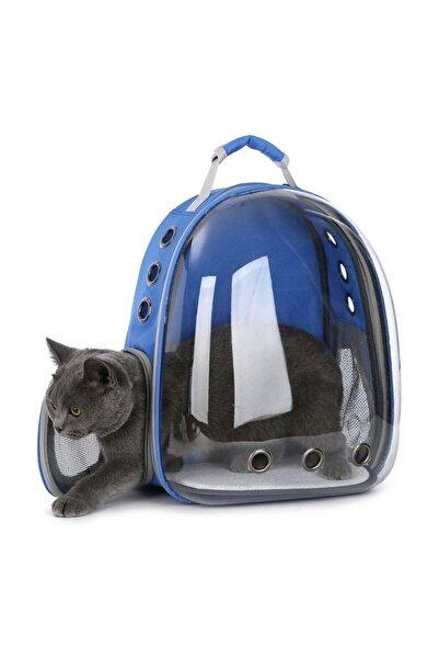 Pet Pretty Astronot Kedi Köpek Sırt Taşıma Çantası Mavi