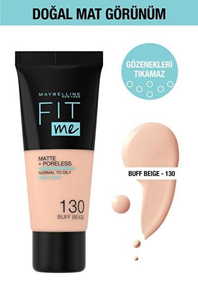 Maybelline New York Fit Me Matte+poreless Fondöten - 130 Buff Beige
