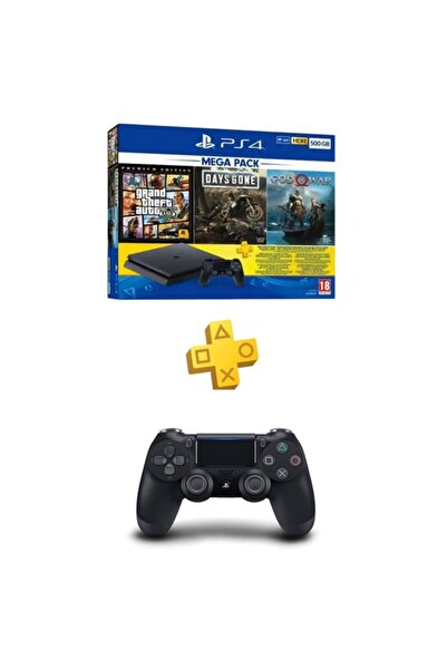 Sony Ps4 Slim 500 Gb + Gta V + Days Gone + God Of War + Psn + 2. Dualshock - Eurasia Garanti