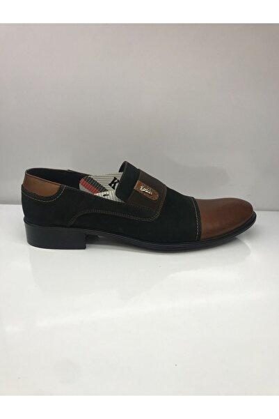 Kardelen Erkek Siyah Nubuk Taba Klasik Ayakkabı