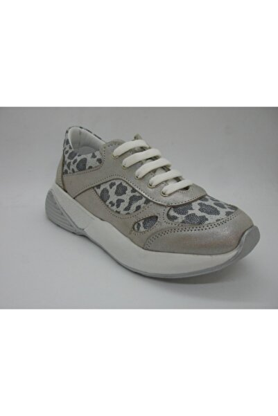Perlina Kız Çocuk Leopar Desenli Iç Dış Deri Ortopedik Spor Ayakkabısı 01404