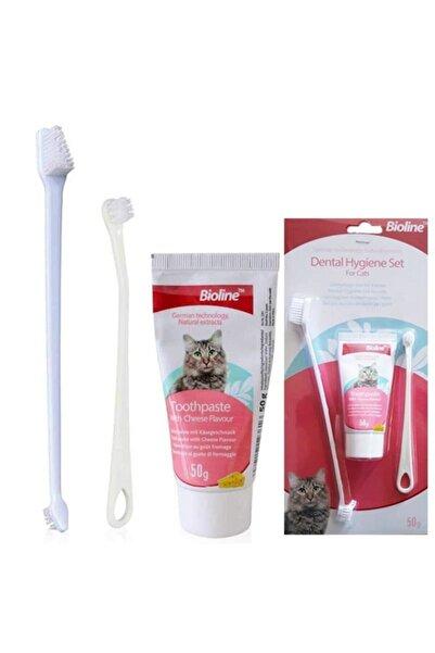 Bioline Kedi Ağız Bakım Seti Kedi Diş Macunu Ve Kedi Diş Fırçası