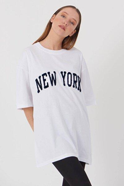 Addax New York Yazılı T-shirt P9358 - W11