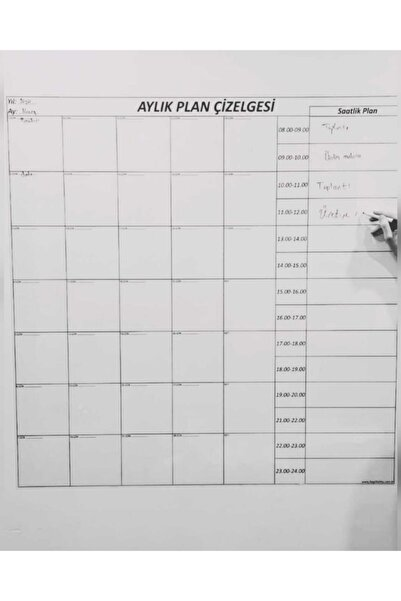 SUPER Bİ KAĞİT Aylık Plan Çizelgesi-süper Bi Kağıt