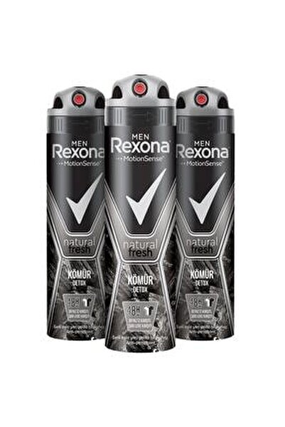 Men Natural Fresh Kömür Detox Erkek Sprey Deodorant 150 ml x3