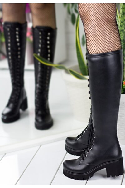 Erbilden Robina Siyah Cilt Bayan Çizme