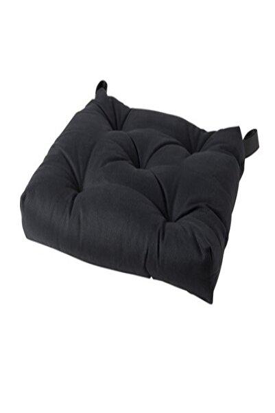 IKEA Malında Sandalye Minderi, Siyah 40/35x38x7 Cm
