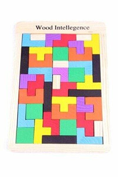 Learning Toys Ahşap Puzzle Zeka Bulmaca Oyuncaklar Tetris Oyunu