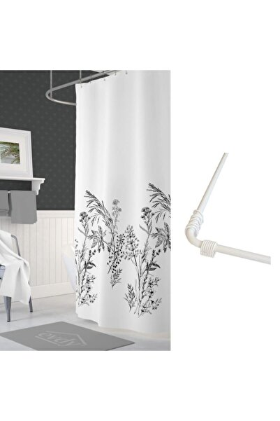 PRADO Beyaz  Çift Kanatlı Funda Banyo Duş Perdesi 2x120x200 cm