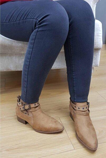 TREND Kadın Taba Günlük Süet Ayakkabı