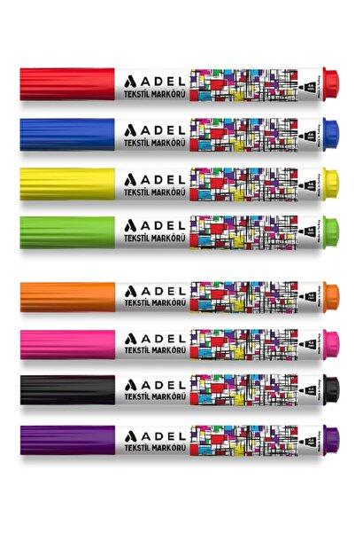 Adel 8'li Tekstil Kumaş Keçeli Kalem Seti