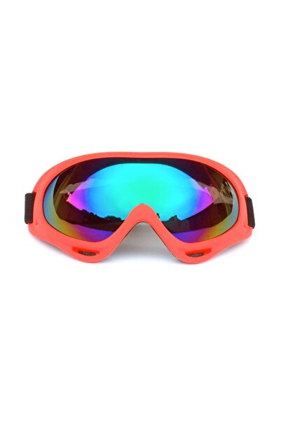 Alfa Kayak Gözlüğü Motorsiklet Windproof Korumalı - Kiremit Rengi