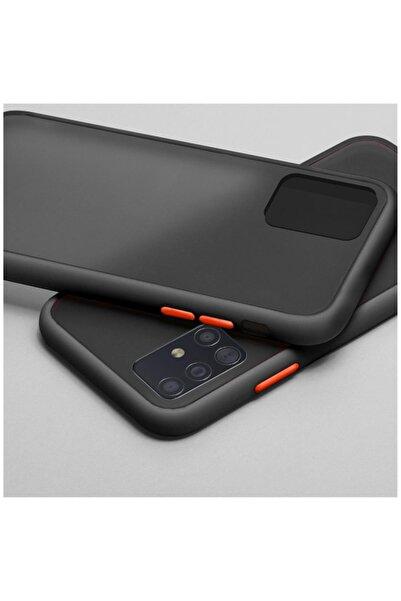 Dara Aksesuar Samsung Galaxy A51 Uyumlu Siyah Silikon Kenar Telefon Kılıfı