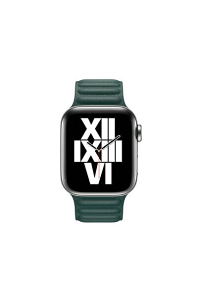 zore Yeşil Apple Watch Uyumlu Deri Kordon 42mm Krd-34