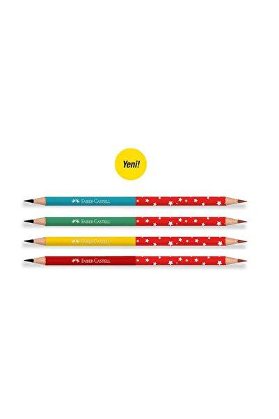 Faber Castell Başlık Kurşun Kalemi Cift Taraflı - 4 Adet