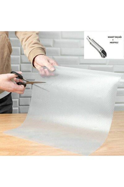 Lariss Şeffaf Kaydırmaz Raf Dolap Ve Çekmece Örtüsü 45 Cm X 10 Metre + Maket Bıçağı Hediyeli
