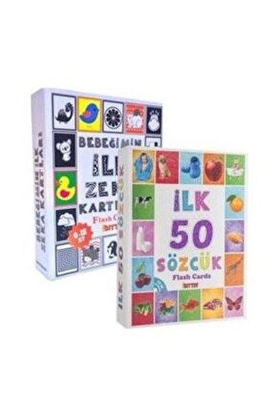 Bebeğimin Ilk Zeka Kartları Ve Diy-toy Flash Cards Ilk 50 Sözcük 2' Li Set