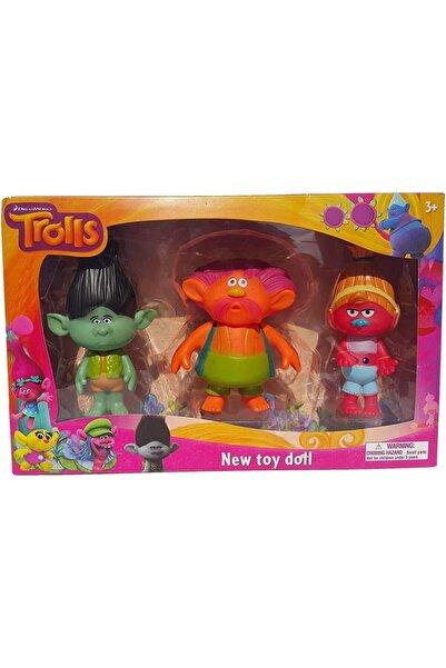 Trolls Figür Oyuncak Seti 10 Cm Midi Boy 3'lü 803b