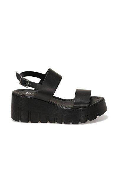 Butigo 21S-0691FX Siyah Kadın Dolgu Topuklu Sandalet 101029272