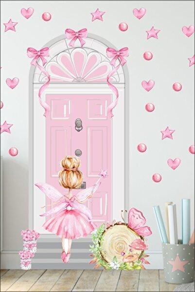 Tasarım Ada'sı Peri Kızı Kapı Çocuk Odası Duvar Sticker