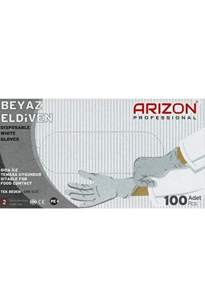 Arizon Bidünyapazar Beyaz Renkli Çok Amaçlı, Naylon,kullan-at Eldiven Tek Kullanımlık