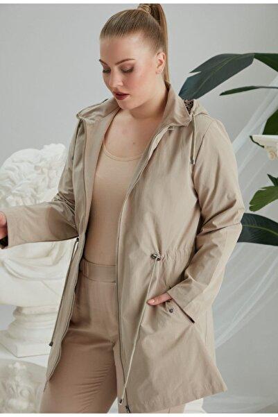 RMG Kadın Bej Trençkot Ceket