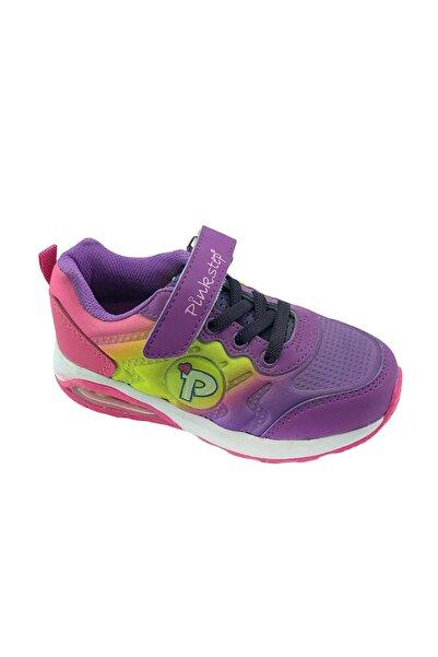 Pinkstep Pınkstep Renkli Kız Çocuk Cırtlı Sneaker Spor Ayakkabı