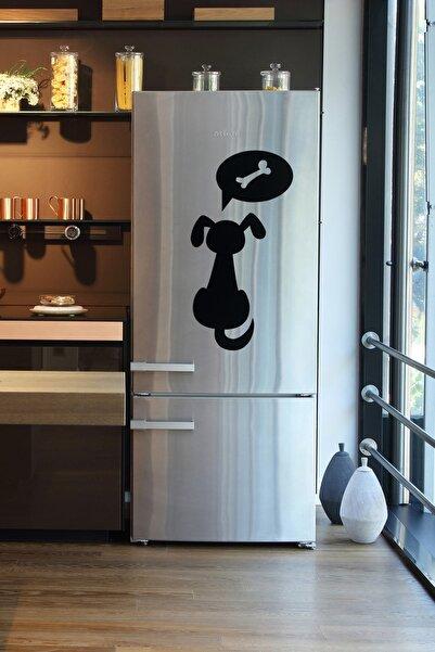 frideco Dog's Dream Büyük Boy Dekoratif Buzdolabı Magneti (SİYAH FLOK BASKI) 2 Parça
