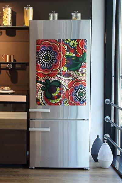 frideco Amerikan Servis Büyük Boy Dekoratif Buzdolabı Magnetleri (Metalik Baskı) 40 Cmx30 Cm - 4 Adet